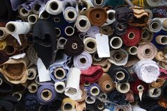 Roulis de tissu Photos stock