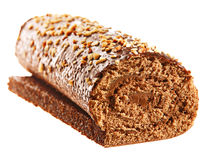 Roulis doux de gâteau Photo libre de droits