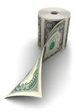 Roulis du dollar Photographie stock