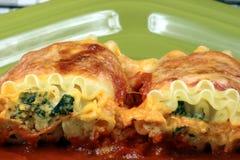 Roulis italiens de lasagne images libres de droits
