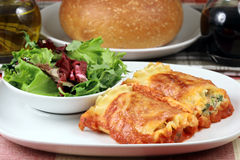 roulis italiens de lasagne image stock