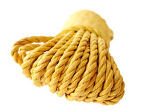 Roulis jaune de corde Images libres de droits