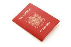 Roumain de passeport photo stock