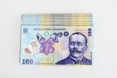 Roumain Leu 100 d'argent images libres de droits