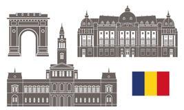 Roumanie positionnement illustration libre de droits