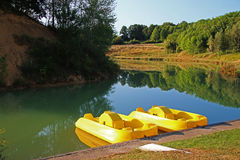 Roumazieres Loubert, Lake and Woodland Stock Images