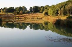 Roumazieres Loubert, Lake and Woodland Royalty Free Stock Image