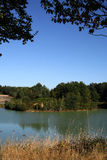 Roumazieres Loubert, Lake and Woodland Stock Photo