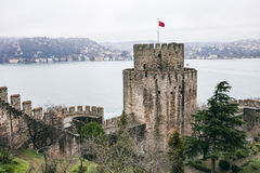 Roumeli Hissar Castle in Istanbul Royalty Free Stock Image