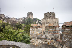 Roumeli Hissar Castle in Istanbul Royalty Free Stock Photo
