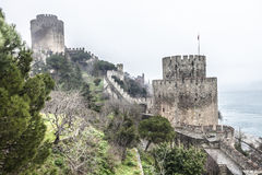 Roumeli Hissar Castle in Istanbul Stock Photography