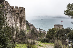Roumeli Hissar Castle in Istanbul Stock Images