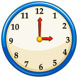 Rounc clock with red needles Royalty Free Stock Photography