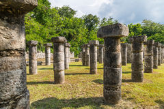 Round Świątynne ruiny Sarmisegetuza Regia Zdjęcie Stock