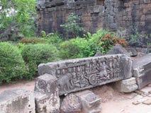 Round Świątynne ruiny Sarmisegetuza Regia Zdjęcie Royalty Free
