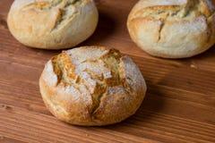 Round świeżego chleba babeczka Zdjęcie Stock