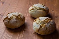 Round świeżego chleba babeczka Obraz Royalty Free