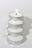 Round świeczek światła układający Zdjęcia Royalty Free