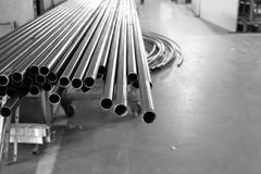 Round żelaza tubka fotografia stock