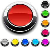 Round 3d buttons. Illustration of Blank 3d round buttons Royalty Free Stock Photos