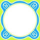 Round Abstract Blue Frame border Stock Photos