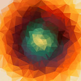 Round abstract 2D geometric colorful background. For web design Vector Illustration