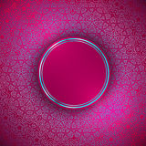 Round Abstract Frame Over Decorative Ornamental  Background Royalty Free Stock Photos
