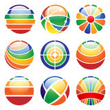 Round abstract icons Stock Images