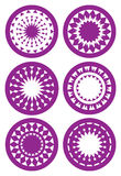 Round Abstract Kaleidoscope-inspired patterns Vector illustratio Royalty Free Stock Photography