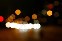 Round abstract lights bokeh blur royalty free stock photo