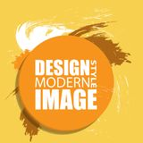 Round abstract shape. Colors for fall season. Frame for text and. Labels in the style of Modern Art graphics for hipsters. Vector illustration Royalty Free Stock Photos