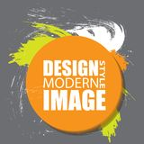 Round abstract shape. Colors for fall season. Frame for text and. Labels in the style of Modern Art graphics for hipsters. Vector illustration Royalty Free Stock Image