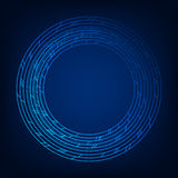 Round abstract technology background. Royalty Free Stock Photography