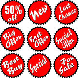 Round advertising stamps Stock Photography