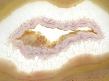 Round agate mineral geode crystal Stock Photos
