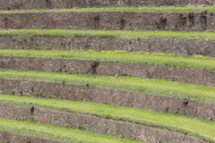 Round agricultural terraces of Incas in Sacred Valley, Peru Royalty Free Stock Images