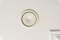 Round air ventilation frame on white ceiling Stock Images