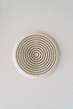 Round air ventilation frame on white ceiling Royalty Free Stock Photo