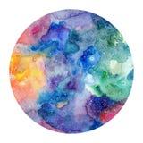 Round akwareli tekstura Fotografia Royalty Free