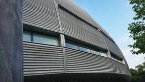 Round aluminium coated sport stadium royalty free stock photo