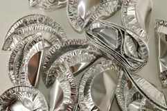 Round aluminium foil food isolated royalty free stock photo
