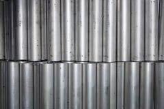 Round aluminum tube Stock Photos