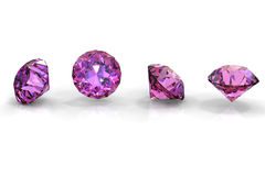 Round amethyst Stock Photo