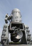 Round of ammunition loaded into .50-caliber machine gun Royalty Free Stock Photo