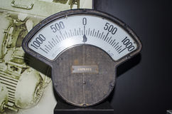 Round analog ampere meter Stock Photos