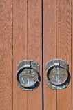 Round Antique Door Handles Royalty Free Stock Image