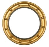 Round antique gilt picture frame. Round circular antique gilt gold picture frame Royalty Free Stock Photo