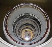 Round apartment stairway stock images