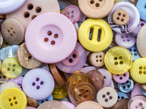 Round apparel buttons Stock Photos