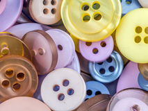 Round apparel buttons Stock Photography